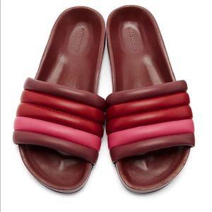 Isabel Marant Red Burgundy Hellea Waikiki Sandals